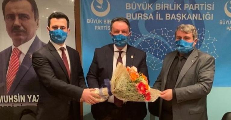 BBP Bursa İl Başkanlığında Bayrak Değişimi….