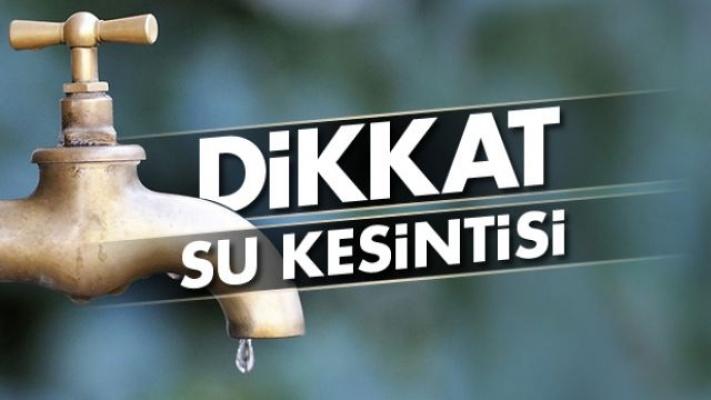 Dikkat! Bursa'da sular kesilecek