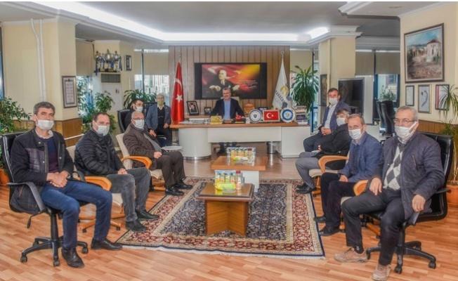 Muhtarlar Derneğinden Başkan Özkan'a ziyaret