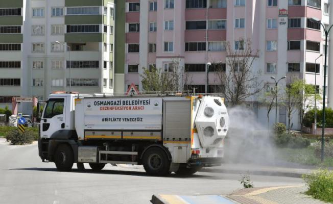 Osmangazi'den Virüse Karşı Aralıksız Temizlik