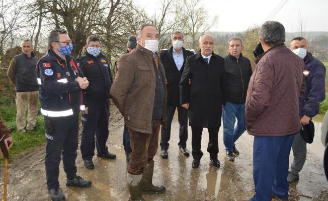 Yenişehir'i Sel Vurdu, Tarlalar Sular Altında Kaldı