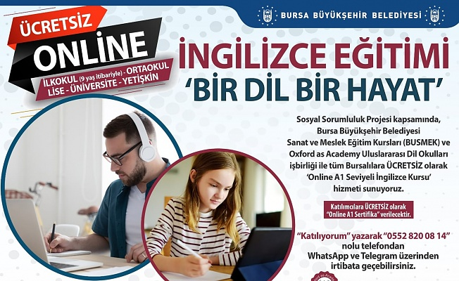 Bursalılara ücretsiz İngilizce kursu
