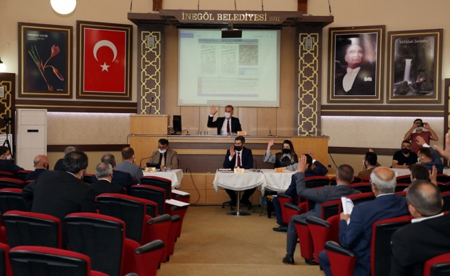 İnegöl Belediye Meclisi'nden Filistin Bildirisi