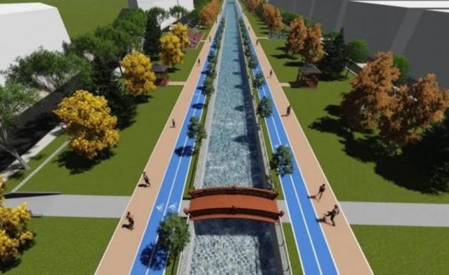 Kanal İnegöl'de İstinat Duvarı Çalışmaları Tamamlandı