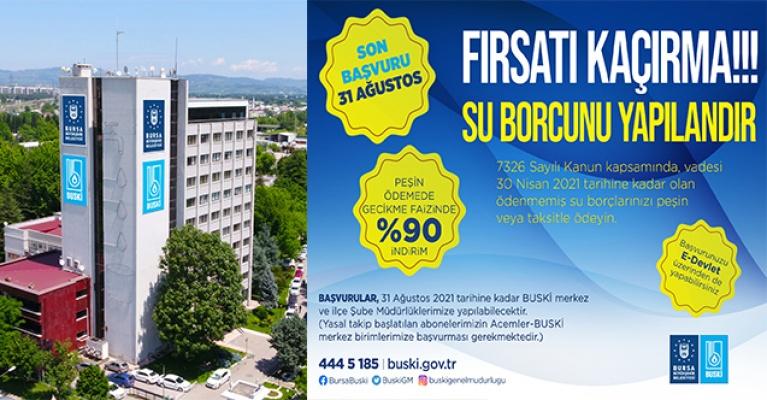 Bursa'da su borçları yapılandırılıyor
