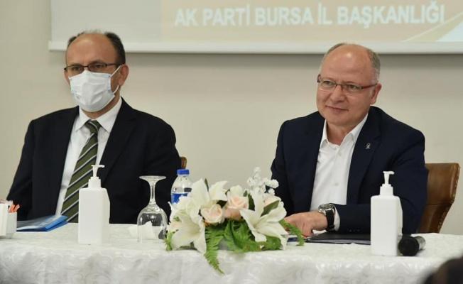 """Gürkan: """"Bursamızın geleceği için çalışıyoruz"""""""