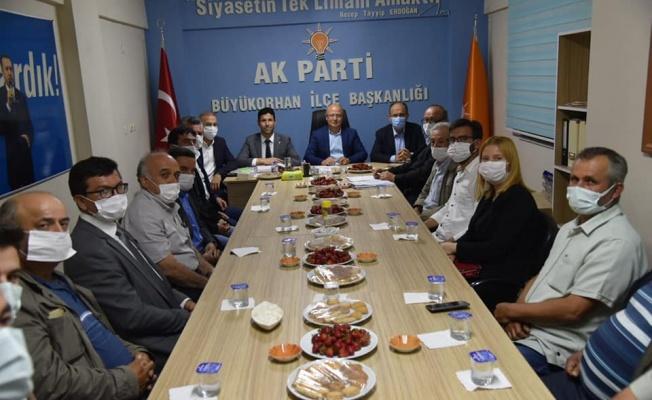 Gürkan'dan Büyükorhan'da teşkilat ziyaretleri
