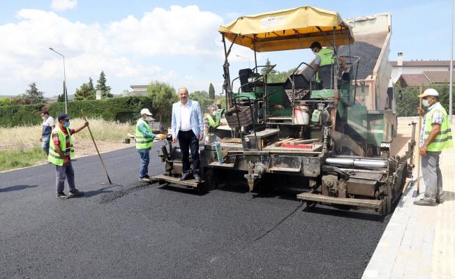 Mudanya'da yeni yerleşim yerleri asfaltlanıyor