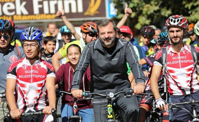 Bisiklet tutkunları Gürsu'nun doğasında yarışacak