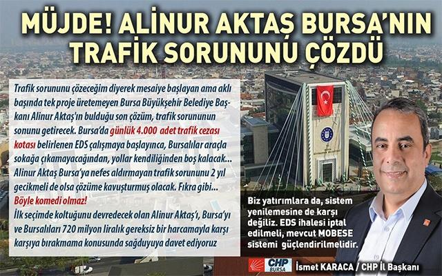 Müjde! Alinur Aktaş Bursa'nın Trafik Sorununu Çözdü