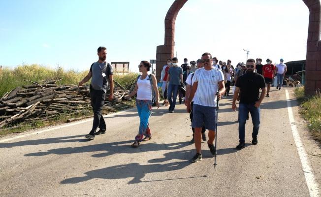 Mysia Yolları'nda gençlerin keyifli yürüyüşü