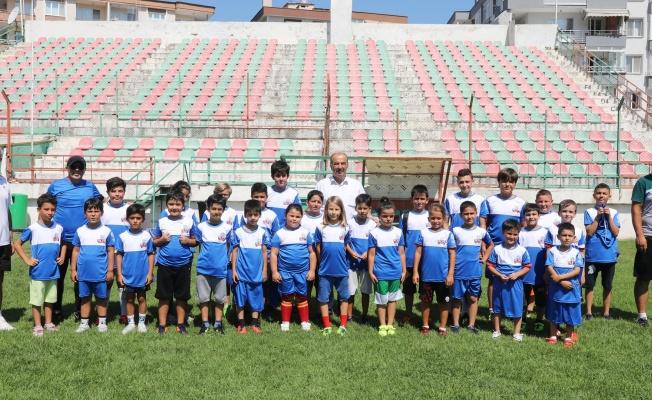 Yaz Spor Okulu'nda Formalar Başkan Türkyılmaz'dan
