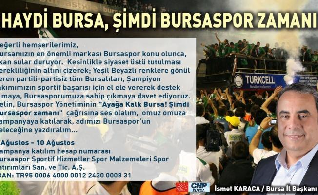 Başkan Karaca'dan 'Bursaspor'a destek' çağrısı