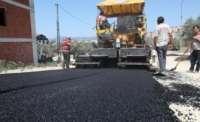 Mudanya'da asfalt çalışmaları sürüyor