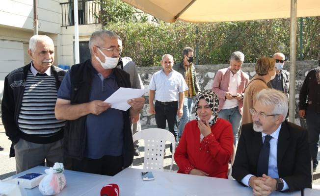 Başkan Erdem, Kültür Mahallesi'ndeydi