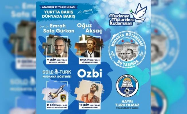 Mudanya Mütarekesi 99. Yıl Kutlama Etkinlikleri Başlıyor