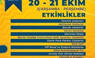 """Bursa'da """"Üniversiteye hoş geldiniz şenlikleri''"""